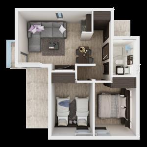 Dvosobni apartman